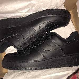 Black Nike Air Force 1s