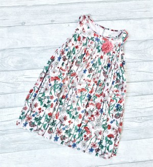 Floral Pleated Summer Dress Age 4-5