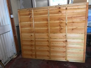 New - traditional lap fence panel 1.83m wide x 1.52m high