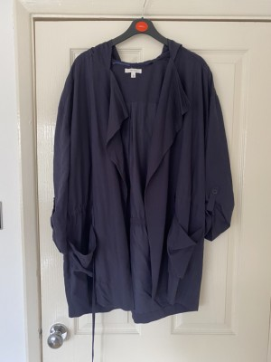 Blue soft cotton trench coat size small
