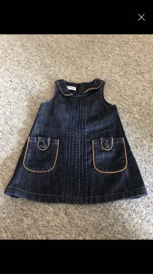 Denim dress 9-12 months never been worn