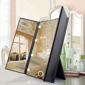 Trifold make-up mirror