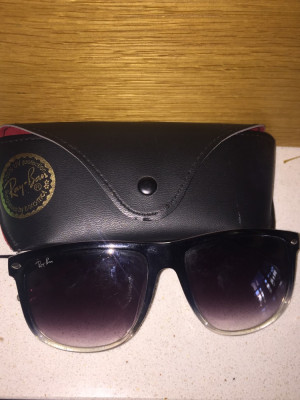 Raybans black and silver