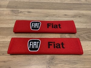 2X Seat Belt Pads Cotton Red Gifts Fiat 124 Spider Bravo Doblo Grande
