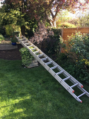 aluminium double extending ladders