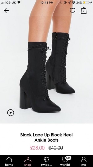 Pointy black lace up high ankle sock boots
