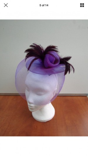 Large wedding Church ladies fascinator 8 colours
