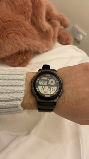 casio water resistant with alarm and different country times