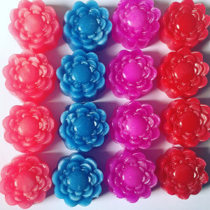 All colour flower wax melts
