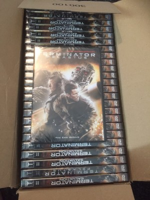 x25 terminator salvation Dvd movies brand new and factory sealed