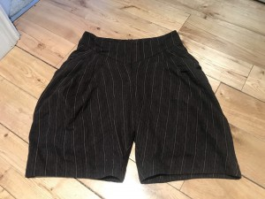 Wool chocolate brown culottes 8 chic