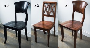 8 oak chairs