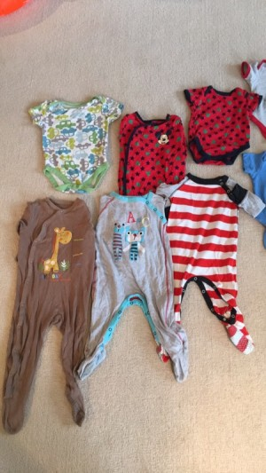 9-12 months boys vests and babygrows