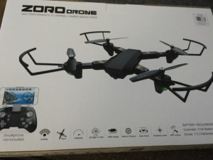 Zoro Drone Quadcopter. 3 speed. 3D flip and roll. USB charge. Built in camera. Auto hover. Headless mode. APP control.