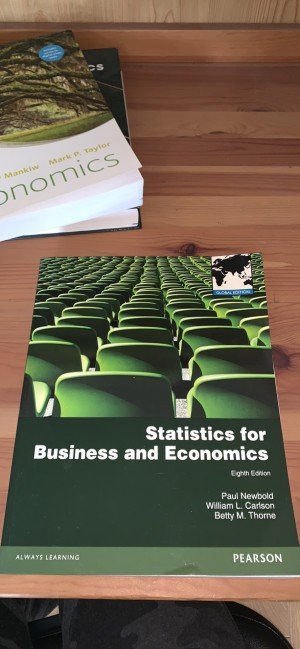Statistics for Business and Economics eighth edition textbook - Newbol