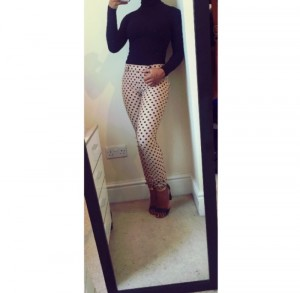 polka dot jegging / leggings