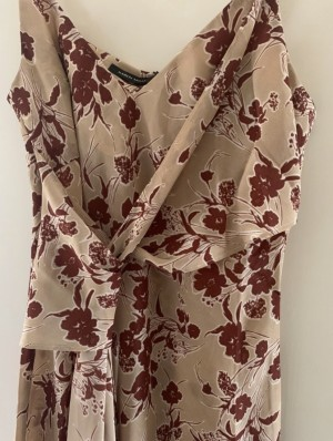 Karen Millen floral printed tie front cami, brand new with tags