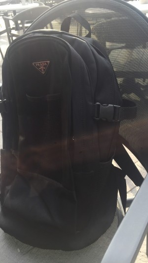 Prada back pack