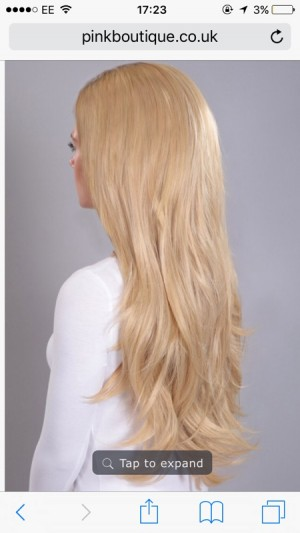 Hair Universe Hair Extentions (Champagne Blonde)
