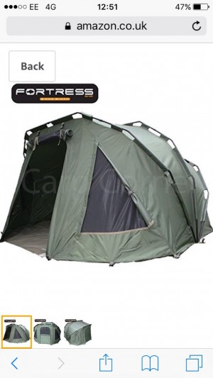 Ngt fortress 2 man bivvy and second skin £120 Ono
