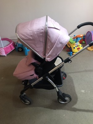 Vintage pink silver cross Wayfarer with carry cot