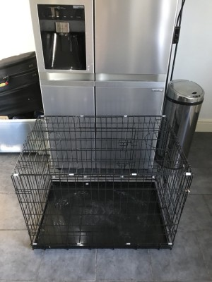 Large dog cage / used once for journey down south / no longer need / thank you