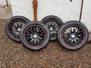 "15"" alloys multi fit stud pattern, will fit most cars."