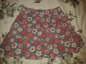 Brown and flower skirt