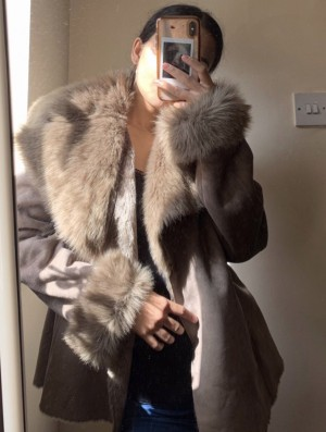 Gorgeous Oasis Duster Faux fur Jacket