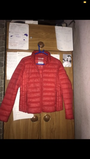Red Puffer Coat/Jacket. Size S
