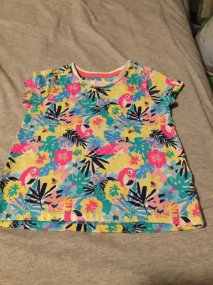 Girls Multi-Coloured T-Shirt - Aged 1-2 Years
