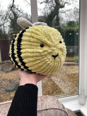 Large Handmade knitted bee