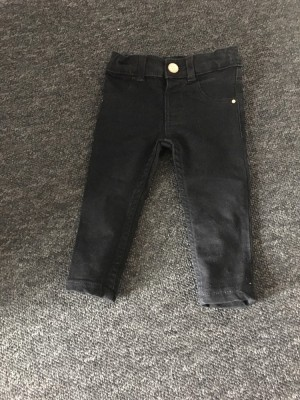 River Island black skinny jeans. Size 6-9 months