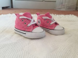 3 pairs of baby shoes for £12! Including baby Converse size 1, all 3 immaculate condition!