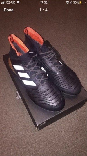 Adidas sock boots size 12 (FG)