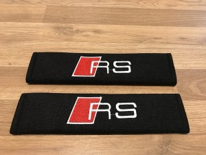 2X Seat Belt Pads Cotton Gifts Audi RS3 RS4 RS5A1 A3 A4 A5 A6 A7 A8 Sp
