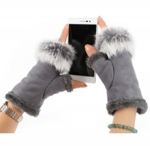 New grey suede and fur fingerless gloves. £10 PayPal and I will post same day or next day thank you.