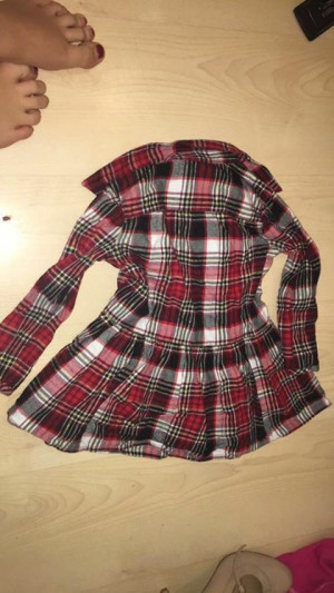 Checked shirt dress small 2 year old