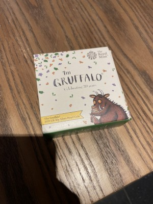 Gruffalo silver proof coin (Paperclip challenge)