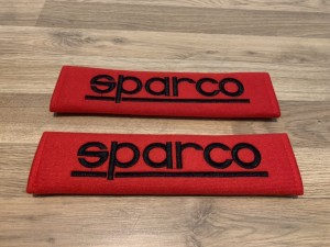 2X Seat Belt Pads Cotton Red Gifts Sparco Bucket Seats Motorsport Raci