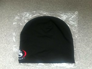 NEW 'Ursuit' Knitted Black Beanie Hat