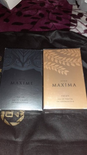 Avon maxima for him and her