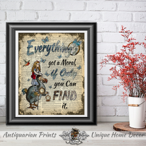 Home Decor Alice in Wonderland, Wall Hangings