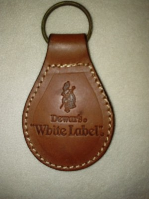 White Label Scotch Whisky Key Ring