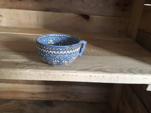 Handmade painted cup