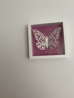 3 butterfly wall art pieces