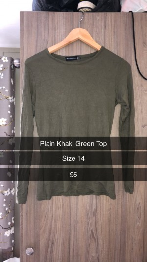 Khaki green top
