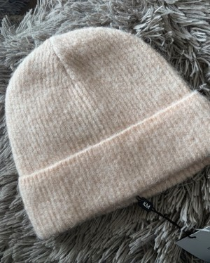 Karen Millen blush super soft and cosy hat, brand new with tags
