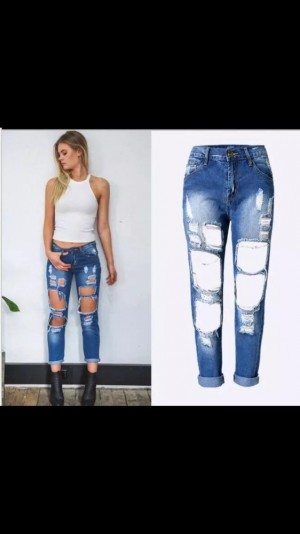 BRAND NEW WOMEN RIPED JEANS