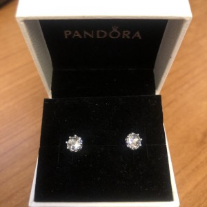 Pandora silver stud earrings